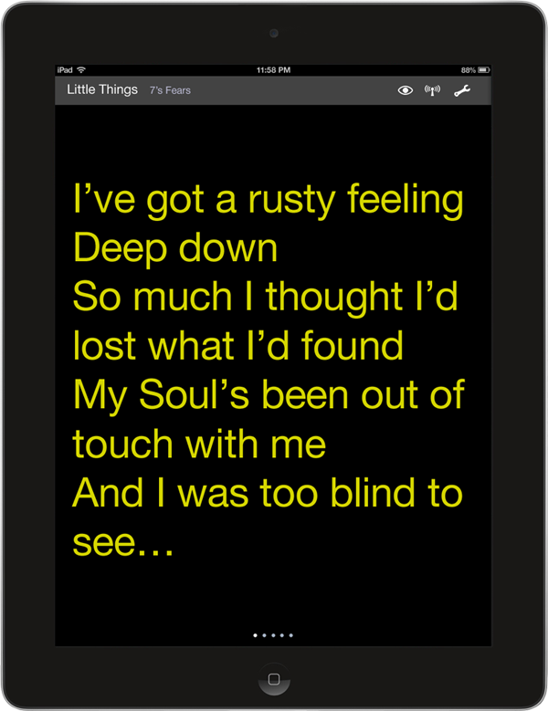Default font settings for Lyric View